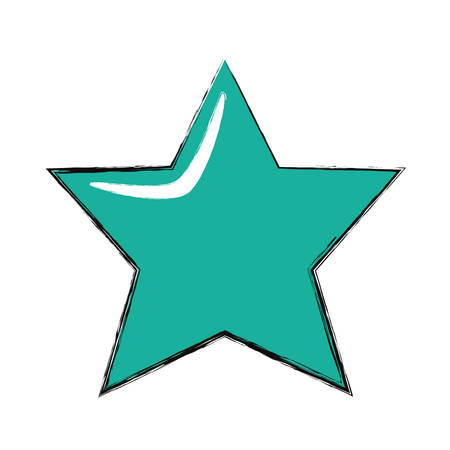 colored star over white background  vector illustration