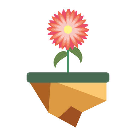 colorful  flowerpot over white background  vector illustration