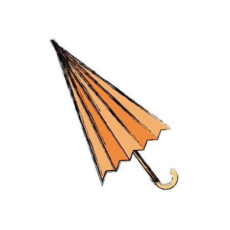 colored  umbrella  over  white background vector illustration