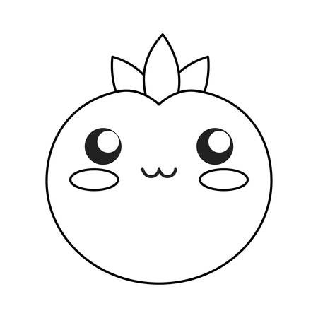 tomato icon over white background vector illustration Ilustração