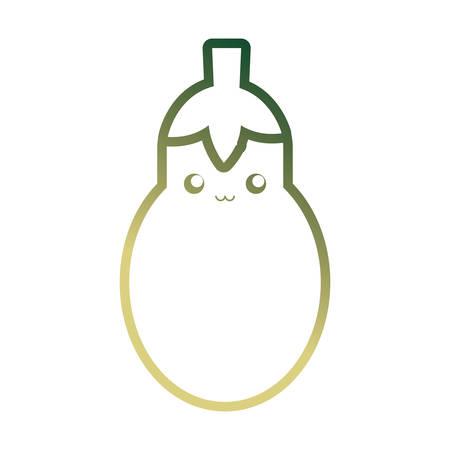 eggplant icon over white background vector illustration
