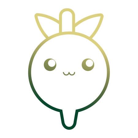 radish icon over white background vector illustration