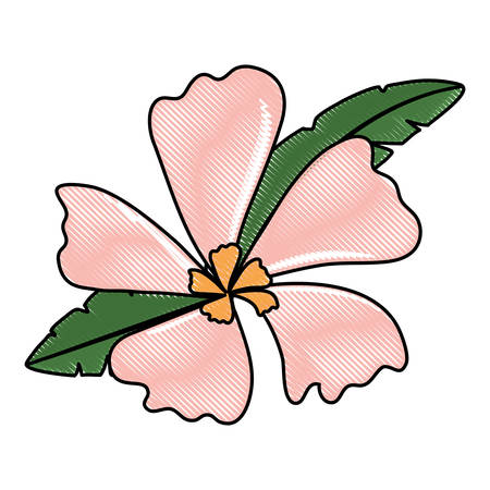 Beautiful pink flower icon.