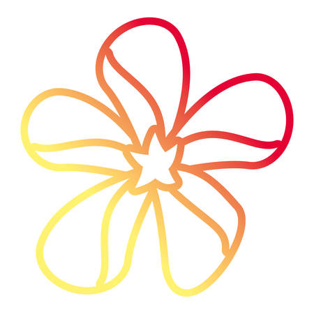 beautiful tropical flower icon over white background  colorful line design vector illustration