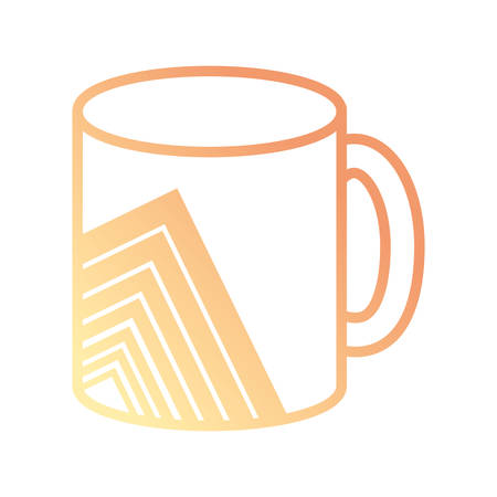 coffee mug with abstrac graphic design icon over white background vector illustration