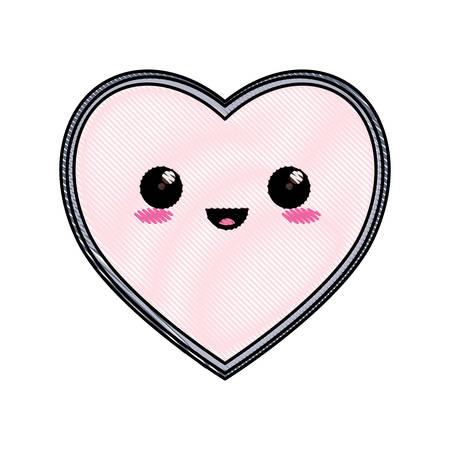 A cute  heart icon illustration plain background