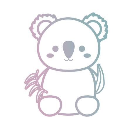 A cute koala icon image illustration plain background Illustration