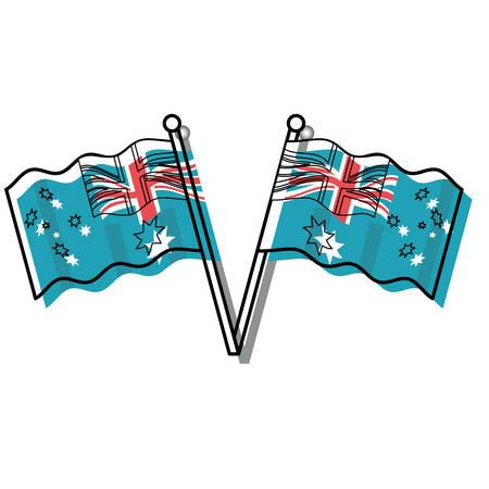 Australia flags design Ilustração