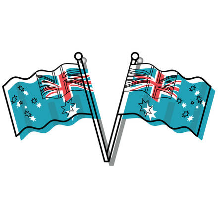 Australia flags design Illustration