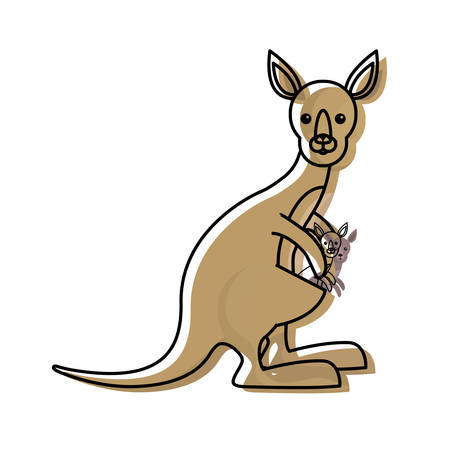 A cute kangaroos icon image