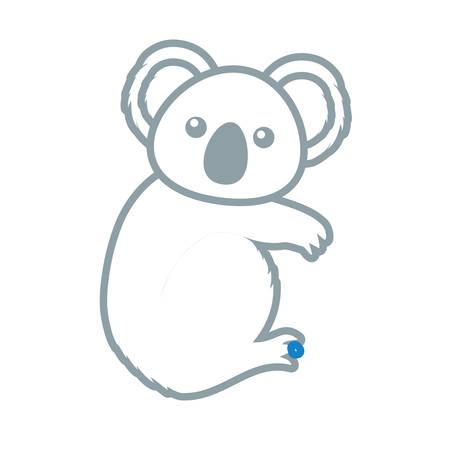 A cute koala icon illustration plain background