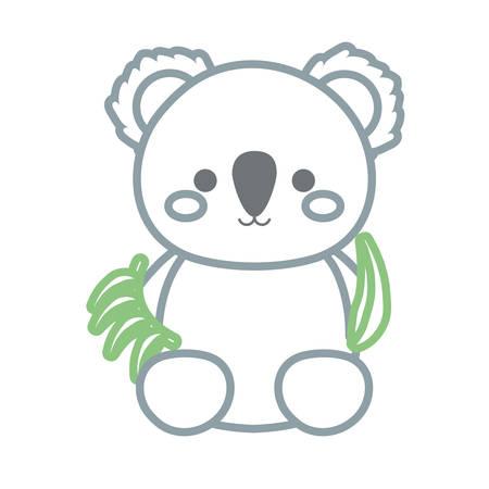 A cute koala icon image Illustration