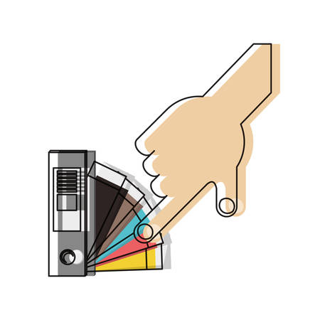 Hand picking a color in the guide palette icon