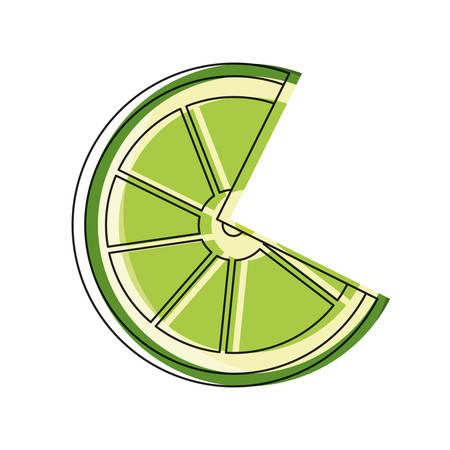 lemon slice icon over white background colorful design vector illustration Illustration