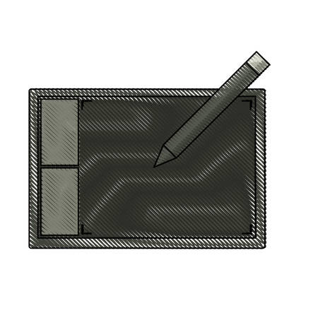 Graphic tablet icon over white background