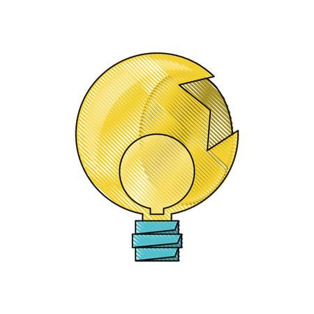 broken light bulb icon over white background colorful design vector illustration
