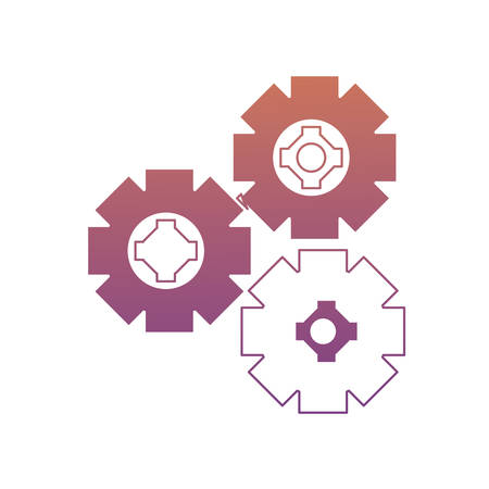 colorful gear wheels icon over white background vector illustration Illustration