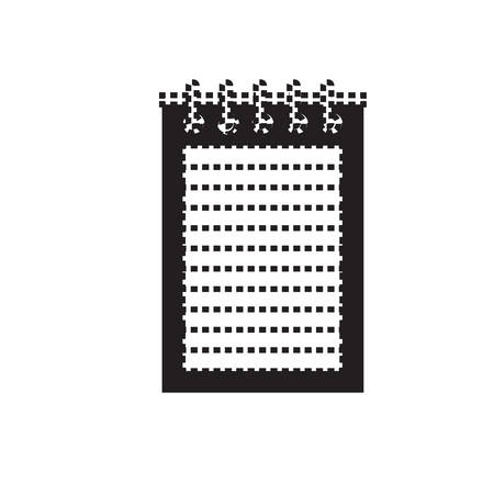 Notepad icon over white background vector illustration