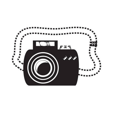 photographic camera icon Vector illustration isolated on white background. Ilustração