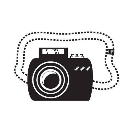 photographic camera icon Vector illustration isolated on white background. Ilustrace