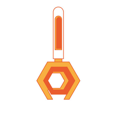 spanner tool icon over white background colorful design vector illustration