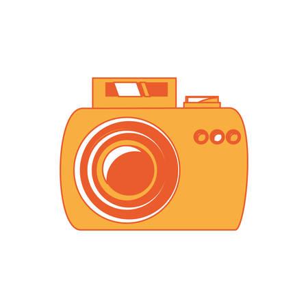 Photographic camera icon over white background colorful design vector illustration. Illustration