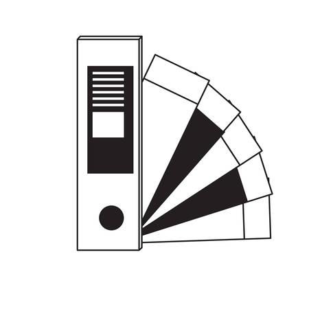Color guide palette picker icon over white background vector illustration