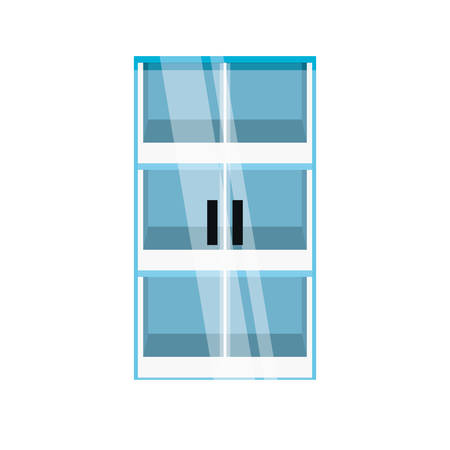 glass door icon over white background colorful design  vector illustration Illusztráció