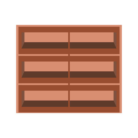 supermarket shelves empty icon over white background colorful design vector illustration