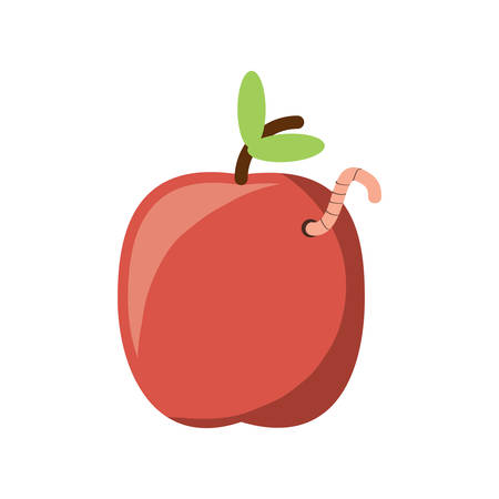 Apple with a worm icon.