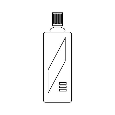Spray bottle icon over white background, vector illustration.