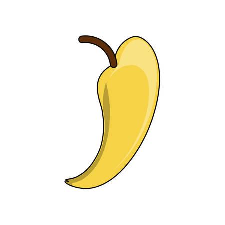 banana fruit icon over white background colorful design vector illustration