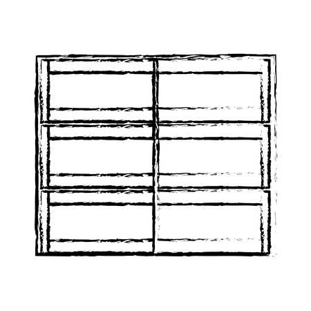 empty supermarket shelves icon over white background vector illustration
