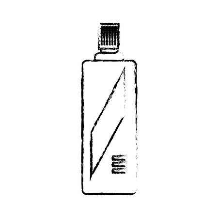 spray bottle icon over white background vector illustration
