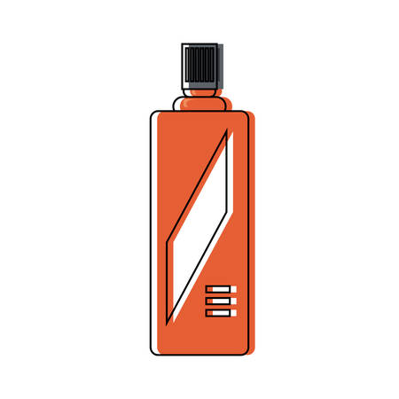 Red spray bottle icon over white background vector illustration Illustration