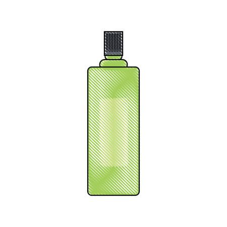 Green spray bottle icon. Illustration
