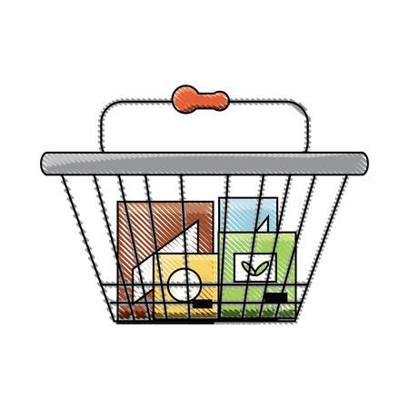 shopping basket icon image Illustration