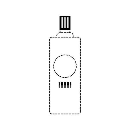 spray bottle icon over white background vector illustration