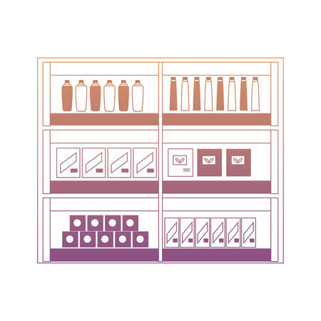 supermarket shelves design concept
