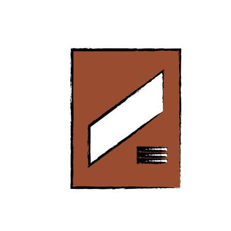 cereal box icon vector illustration.