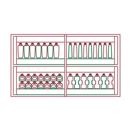 Concetto di design scaffali del supermercato