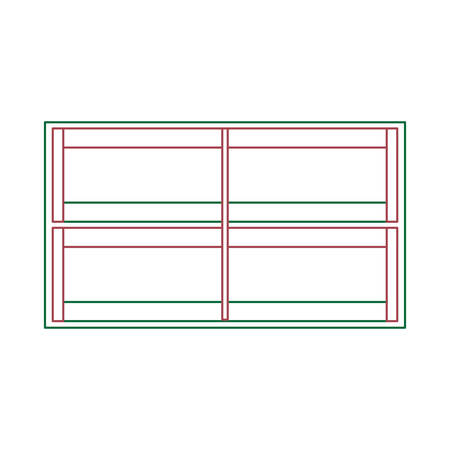 Supermarket shelves empty icon over white background vector illustration