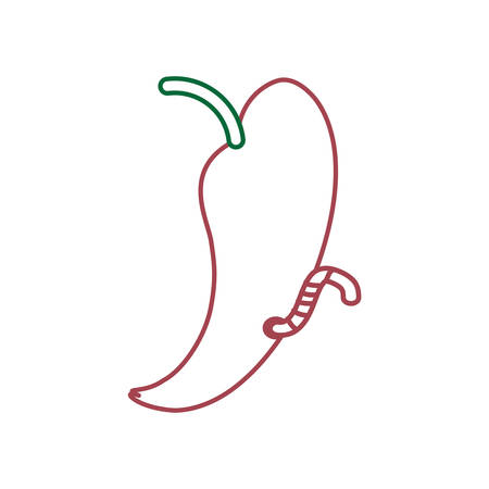 A fruit with a worm icon over white background vector illustration Illustration