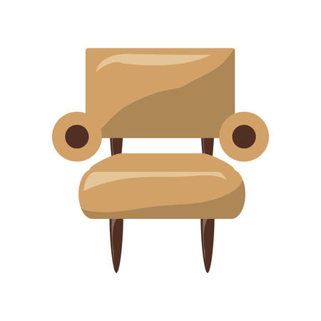 armchair icon over white background colorful design  vector illustration