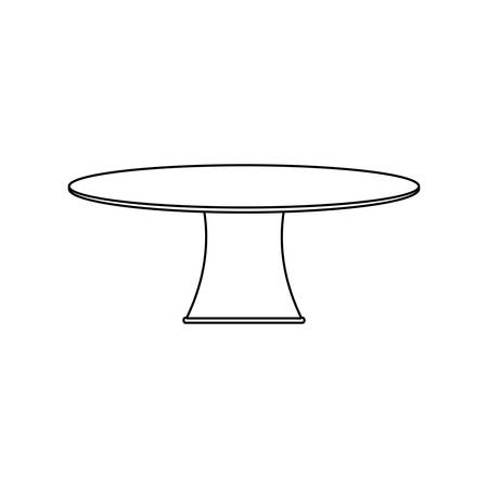 round dining table icon over white background vector illustration Illustration