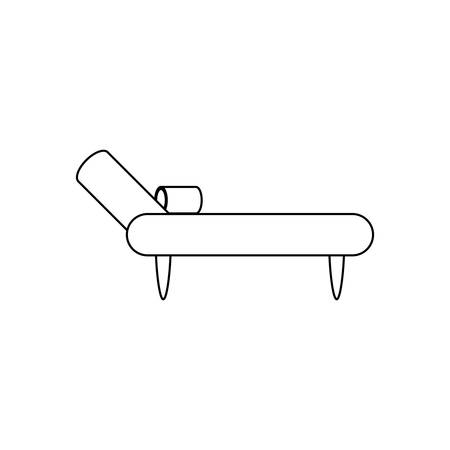 Divan couch icon illustration.