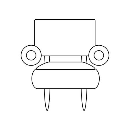 armchair icon over white background vector illustration