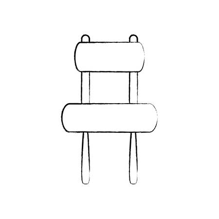 sketch of armless accent chair icon over white background vector illustration