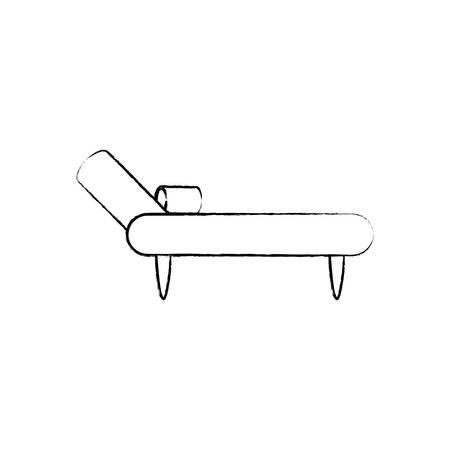 sketch of divan couch icon over white background vector illustration