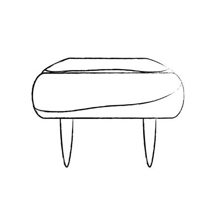sketch of pouf chair icon over white background vector illustration Illustration